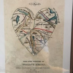 Print: A Map of The Open Country of Women's Heart